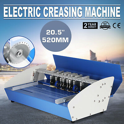 520mm Electric Creaser Paper Creasing Machine Scorer Perforating All-Steel 3IN1