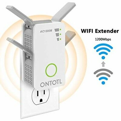 WiFi Range Extender Wireless Repeater,ONTOTL 1200Mbps WiFi Extender Internet Sig