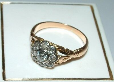 Ring18 ct Rotgold Altschliff Brillanten 0,50 ct  Jugendstil um 1920,Rosé Gold