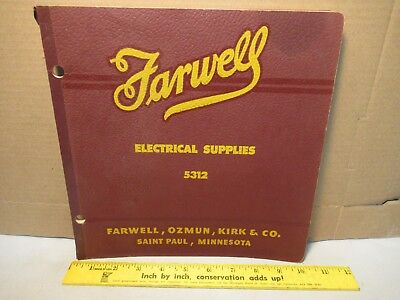 Farwell Tools Catalog 5312 Vintage Old Book Electrical Supplies Free USA Shippin