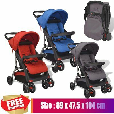 Folding Kids Baby Pram Stroller Child Pushchair Car Seat Carrycot Buggy Travel