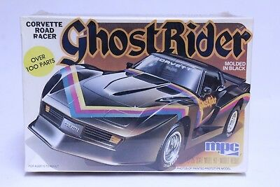 Vintage 1/25 Scale Mpc Ghost Rider Corvette Road Racer Model Kit Sealed In Box