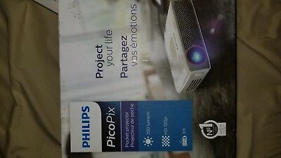 Philips PPX4835 Pocket Projector, 350 Lumens, LED, 720p, HDMI, USB, 120""