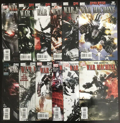 WAR MACHINE #1-12 (2009) COMPLETE FULL RUN LOT in NM WITH #1 VARIANT