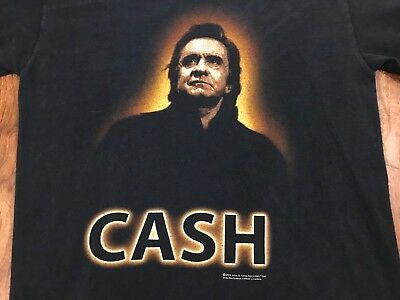 Johnny Cash S Man in Black Country Double Sided Zion Rootswear T-Shirt VTG 2004