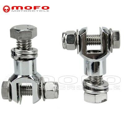 1-1/8'' Chrome Engine Guard Highway Foot Pegs Footrests Mounts Clamps For Harley