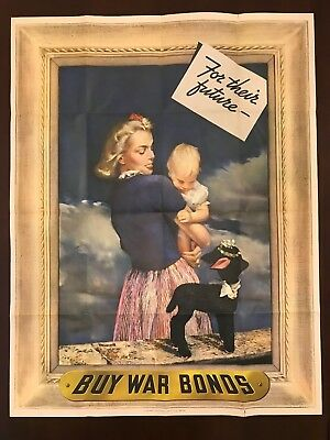 FOR THEIR FUTURE - WW2 Poster - ORIGINAL