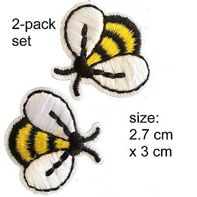Busy Bees Iron on patch 2 pack sweet honey bee cartoon buzz iron-on patches set