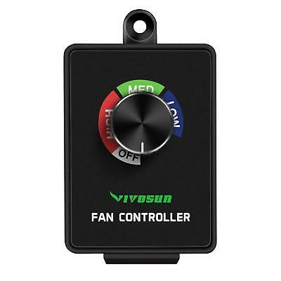 VIVOSUN Variable Inline Exhaust Fan Speed Controller Vent Blower Speed Adjuster