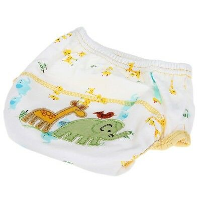 4X(diaper Training Pants Washable Waterproof Cotton elephant pattern for Be W5J3