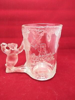 1997 The Coco Cola Company Frosted Polar Bear Glass
