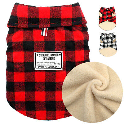 Windproof Plaid Dog Winter Coat Clothes for Small Medium Dogs Pet Supplier US