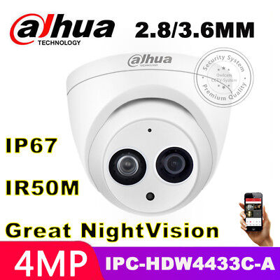 DAHUA HD 4MP IPC-HDW4433C-A Built-in MIC Home Security CCTV PoE IP