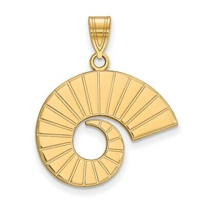 Jewelry Stores Network Virginia Commonwealth University Rams School Mascot Pendant Gold Plated Silver
