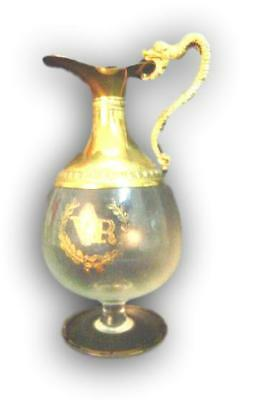Bottle vecchia romagna period crystal and gold zecchino vintage