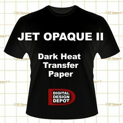 10 Sheets Jet Opaque II Heat Transfer Paper for Dark 8.5 x 11