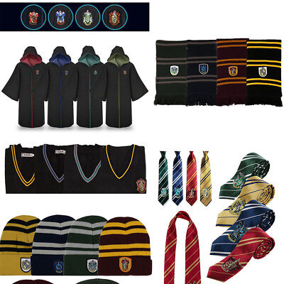 Harry Potter Robe Costume Gryffondor Serpentard Serdaigle Écharpe Cravate Cape F
