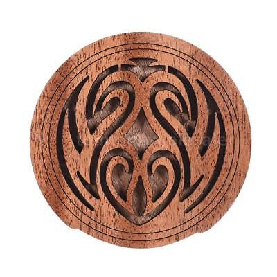 Acoustic Guitar Feedback Buster Fire Soundhole Cover Sound Buffer Wood S0S0