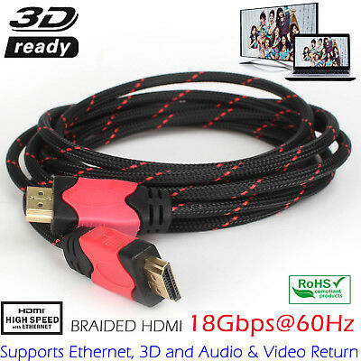 HDMI Cable 1 ~ 10 Meters, Premium HDMI Cord Type High Speed Supports 3D 1080P