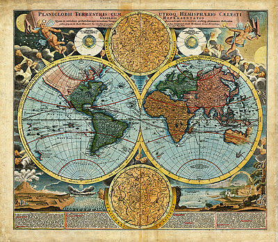 World 1716 A1+ High Quality Canvas Art Print