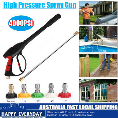 4000PSI High Pressure Spray Gun Wand Lance Water Washer Pump Extend Wand &Nozzle