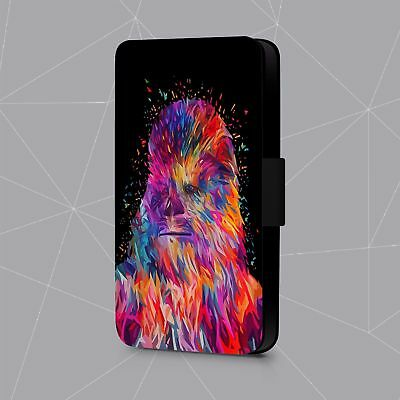 Star Wars Chewbacca Wookie Abstract Art  Faux Leather Flip Phone Case Cover