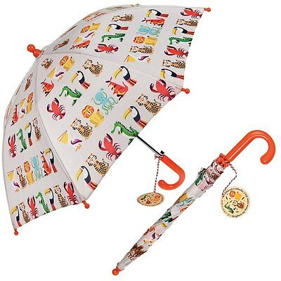 Rex London CHILDRENS UMBRELLA COLOURFUL CREATURES. KIDS GIRLS BOYS BROLLY