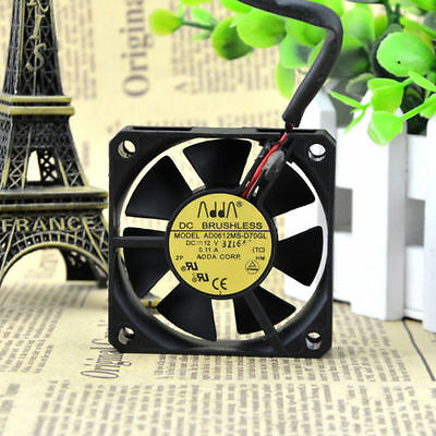 1pcs ADDA AD0612MS-D70GL FAN 2Pin 60*60*15mm 12V 0.11A #M2643 QL