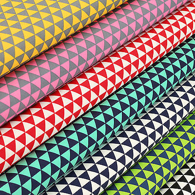 Cotton Print Fabric FQ Geometric Triangle Delta Confetti Gift Quilting Sew VK105