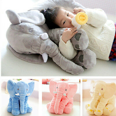Baby Long Nose Elephant Doll Stuffed Plush Toys Soft Lumbar Sleep Pillow Gift