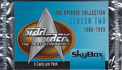 STAR TREK The Next Generation - Episodes Season 2 Trading Card Packs (12) #NEW