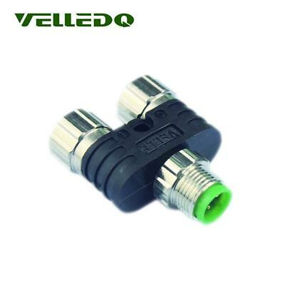 4Pin Male Plug 3Pin Female Adaptor Y Type 2-Port Splitter For Industrial Wiring