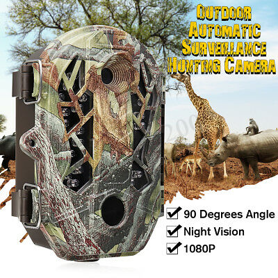 Hunting Trail Camera HD 1080P 162MP IR Wildlife Scouting Cam Night Vision