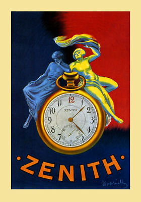 170093 Couple Zenith Watch Clock by Cappiello Decor WALL PRINT POSTER AU