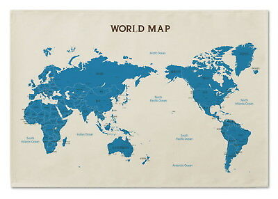 169953 World Map Flag Banner Tapestry Korean Decor WALL PRINT POSTER AU