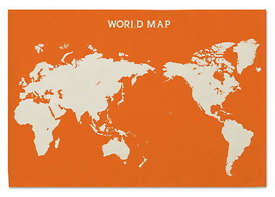 169696 World Map Flag Banner Tapestry Orange Decor WALL PRINT POSTER AU