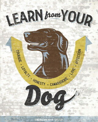 176214 Learn From Your Dog by Luke Stockdale Loyalty Decor WALL PRINT POSTER AU