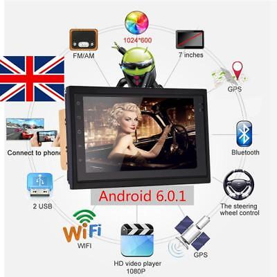 """7"""" Android 6.0 Double 2Din Car Stereo Radio MP5 PLAYER GPS Wifi 3G NAV OBD AUX"""