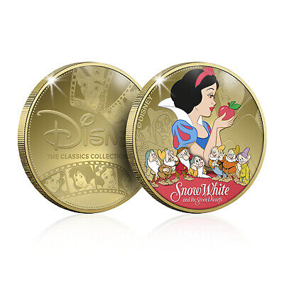 Disney Princess Gifts Classics Collectable Gold Coin Medal Snow White Traditions