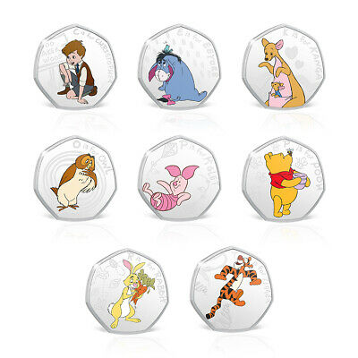 Winnie the Pooh Collection Silver Coin / Medal - Complete Pack