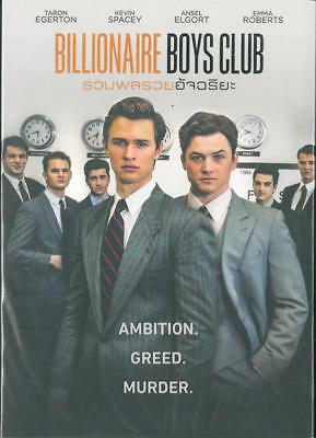 Billionaire Boys Club (2018) DVD '0' PAL - Ansel Elgort, Kevin Spacey, Crime
