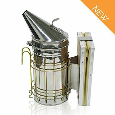 Beehive Smoker Beekeeping Bee Repellent Stainless Steel With Heat Shield Protect