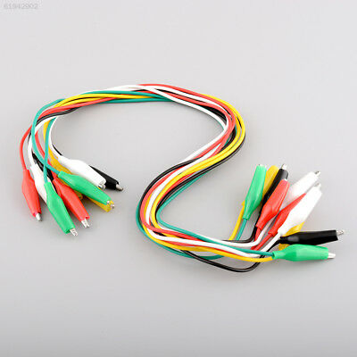 8E09 10pcs 50cm Double-ended Clips Cable Clips Jumper Wire testing wire Test Lea