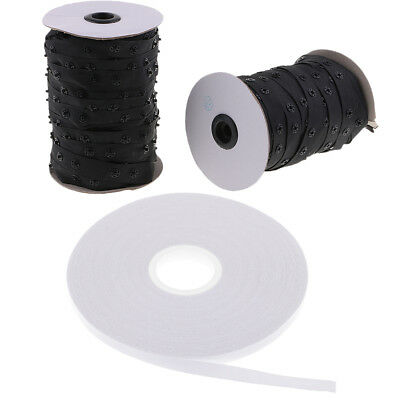 Baoblaze Double Sided Tape + Invisible Craft Buttons Sewing Snap Fastener