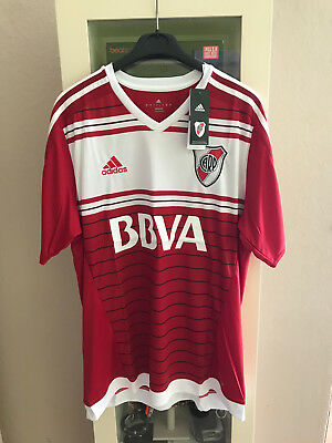 """"""" River Plate Buenos Aires Argentinien Adidas Away Trikot"""" Carp """" Rot """" Xl """""""