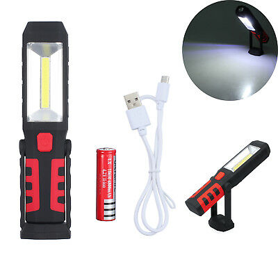 Magnetic COB + LED Rechargeable Torch Inspection Lamp Cordless Work Light