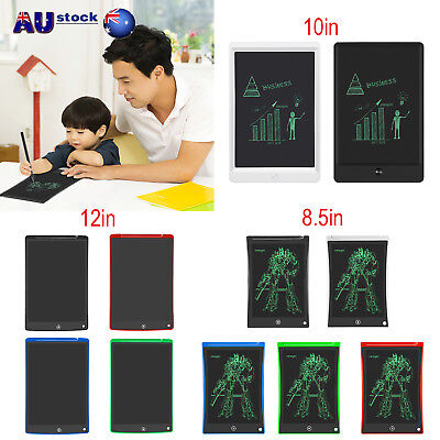 "8.5/10/12"" LCD e-Writer Graphic Drawing Tablet Writing Pad Painting Board Gift"