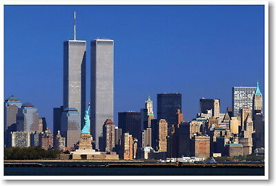LIBERTY PREVAILS World Trade Center w Statue of Liberty 2001 Wall POSTER Poster