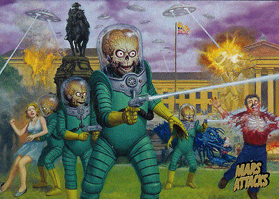 2013 Topps MARS ATTACKS INVASION 95 Card Gold Foil Stamped Parallel Chase Set