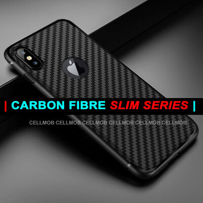 Case for iPhone 11 Pro XS XS MAX X XR Carbon Fibre Soft Cover TPU Silicone Slim